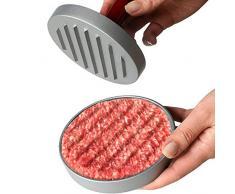 broil-master Presse à Hamburger - Ø11,5 cm, en Fonte d'Aluminium avec Manche en Bois Marron - Hamburger Patty Press, Presse à Burger Steak, Haché Presse