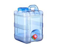 Transporteur d'eau sans BPA,bouteille d'eau en plastique réutilisable,récipient de stockage d'eau pour la maison avec seau en plastique pur,récipient récipient de 5 gallons avec couvercle et embouts
