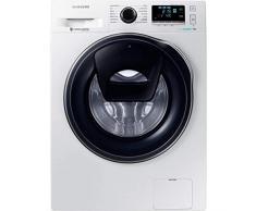 Lave linge hublot 9 Kg Samsung WW90K6414QW - Lave linge Frontal - Essorage 1400 tr/min - Fin différée - Affichage temps restant - Moteur à induction - 74 dB - Pose libre - Classe énergétique A+++