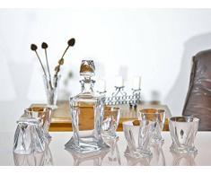 Quadro Set avec carafe à décanter + 6 verres à whisky