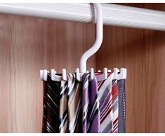 Rameng- Clarity Porte-Cravate à Suspendre Cintres avec 20 Crochets pour Ceintures Châles et Foulards
