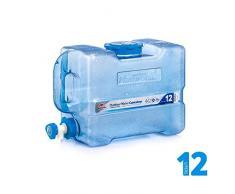 Oshidede Bidon d'eau Portable Seau Distributeur d'eau Gourde & Réservoir d'eau pour Stockage d'eau, 12 l