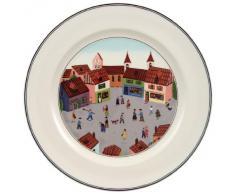 Villeroy & Boch 10-2337-2625 Assiette Plate Porcelaine Rouge 29,2 x 29,2 x 8,5 cm 1 Assiette