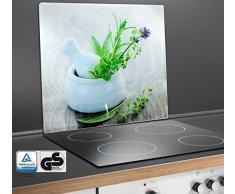 WENKO 2712940500 planche de recouvrement pour plaques de cuisson céramique, planche à découper en verre durci 50 x 0,5 x 56 cm