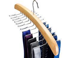 HOUSE DAY Porte-cravates Porte-ceinture pour placards 24 Porte-cravates pour garde-robe Organisateur de cravate