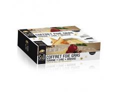 Saveur et Degustation KDO8563 Coffret Foie Gras TERRINE + Lyre + Ardoise, Acier Inoxydable, Multicouleur