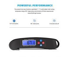 Digital Thermomètre à viande, Lavuky Dk05 Thermomètre de cuisson Thermomètre digital avec sonde lecture instantanée claires et écran