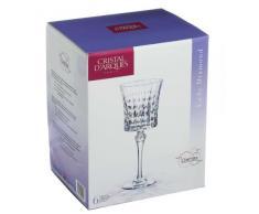 Cristal dArques, Lady Diamond Verre de vin 270ml, sans repère de remplissage, 6 Verres