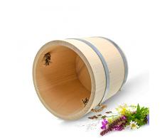 Grand pot de bois Seau 10 L ø28,5 cm de rosée Eau Seau à la main bois