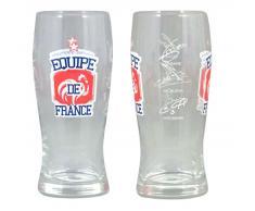 FFF - Lot de 2 verres à bière