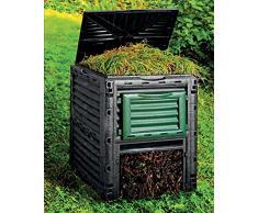 Dehner Composteur Thermique 300 L, env. 80 x 65 x 65 cm, Plastique, Noir/Vert