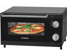 Mini four avec grille de funktionund de Voûte et de la chaleur Mini Four Four multifonctions à pizza four 12 L (Puissance de 1000 W + Plaque de cuisson, grille et tiroir ramasse-miettes)