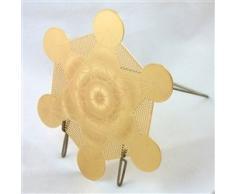 Metatron Grille de guérison Cube Plaqué or 18 K