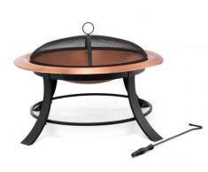 Tepro 01391 Copper Mountain Braséro haut de gamme en cuivre 74 cm de diamètre