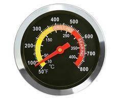GFTIME 6cm Barbecue Extérieur Grill Fumoir Thermomètre en Acier Inoxydable Calibre de Température Four Thermomètre Smoker Grill, pièces de Rechange de Gril pour la Cuisson du Barbecue