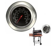 Itian Thermomètre en Acier Inoxydable Pour Barbecue, Thermometer de Barbecue BBQ Grill avec Sonde
