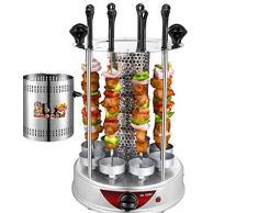 Rôtissoire Verticale Four électrique Grill Multifonction Ajar Portes Four de comptoir, Machine Shawarma Rotisserie Grill for Les Couches Maison- grilloir Viande