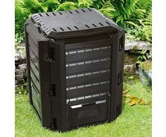 Deub - Composteur écologique 380 L 800 L 1200 L 1600 L Noir 380 l