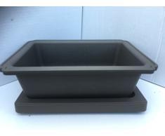 17.5cm Plastique Bonsaï Pot Avec Correspondance Plateau