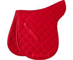 Tapis de selle en coton - rouge - Cheval
