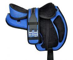 Wonder Wish Fixation pour selle de cheval Freemax de 30,5 cm à 45,7 cm, bleu, 14 Inches Seat