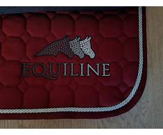 Equiline Sprinter Art VS Tapis de Selle pour Cheval Bordeaux/Argent/Gris