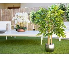 Maia Shop 1 Bambou anches Naturelles, idéal pour la décoration de la Maison, Arbre, Plante Artificielle (105 cm)