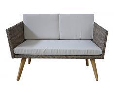 Meubles de jardin Cassis dans marron mélangé neuf Salon de jardin Lounge Retro Design terrasse balcon meubles Jet Line