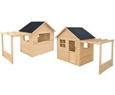 Maisonnette en bois avec pergola