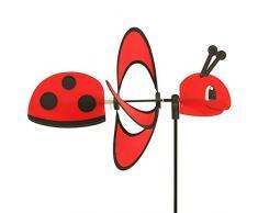 CIM Girouette - Little Magic Ladybird - Hélices: Ø28cm, Motif: 35x12cm, Hauteur Totale : 85cm – résiste aux UV et aux intempéries – INCL. Tige en Fibre de Verre