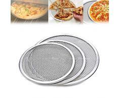 Nrpfell Four à Pizza Rond Professionnel Plaque de Cuisson Filet Antiadhésif pour Grille de Barbecue (10 Pouces)