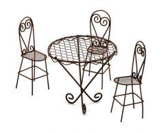 Darice Gabarit dembossage en métal Intemporel Miniatures-wire Ensemble Table et chaises de Jardin