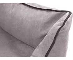 Knuffelwuff Panier orthopédique pour chien lit pour chien Amelie, velours, gris XXL 120 x 85cm