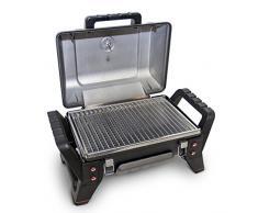 Char-Broil X200 Grill2Go - Barbecue portable avec système de cuisson TRU-Infrared, gris / fonte daluminium.