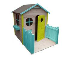 Couleur garden - Maison de jardin enfant avec terrasse version colorée