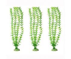 Herbes Aquatiques Plantes artificielles en plastique pour Aquarium ornements décor