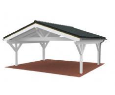 Easycarport.de Carport avec toit pointu 6,50 x 6.00 m
