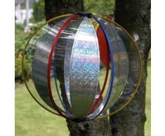 CIM Girouette - Magic Crystal Laser - résiste aux UV et aux intempéries - Boule : Ø25cm, Hauteur Totale : 100cm - INCL. Tige en Fibre de Verre, Cheville de Fixation et système daccrochage