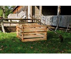 Gartenwelt Riegelsberger Composteur en bois avec système d'emboîtage en bois 120x120xH60 cm Lärche