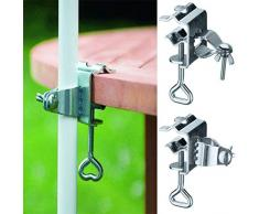 GEEZY Support de Parapluie pour Table de Balcon - Support de Parasol de Jardin - 22-28 mm