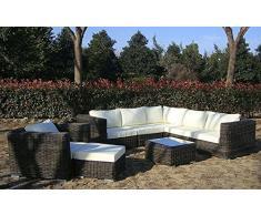 Baidani salon de jardin lounge en rotin dreamline