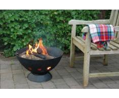Fancy Flames gt37 55 cm 50 x 26 x 26 x 6 cm en fonte pour barbecue rond – Noir