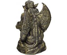 Design Toscano Statue Silas la gargouille sentinelle, moyen, pierre deux tons