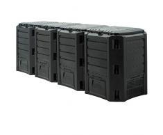 Deub - Composteur écologique 380 L 800 L 1200 L 1600 L 1600 L noir.