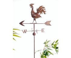 DanDiBo Girouette en Forme de Coq Girouette 13901 Coque en métal Eolienne 165 cm pour insérer dans la Terre