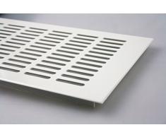 Grille d'Aération Plaque De Ventilation En Aluminium - Revêtement en poudre blanche