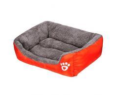 Panier Chien, Kolylong Chien Chat Chiot De Lit Coussin Maison Douce Et Chaude Blanket Kennel Mat Dog Tapis Chien Lit Pour Chien (S, Orange)