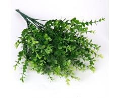 2x Plantes Artificielles de Petites Feuilles Eucalyptus Herbe pour Décoration de Maison Jardin