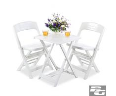 LD Ensemble Balcon mobilier de Groupe Table de Jardin Chaise Pliante essgruppe Lounge