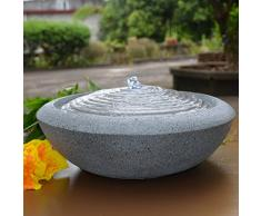 Zen'Light Fontaine Terrazza Résine, Gris, 13 x 13 x 16 cm